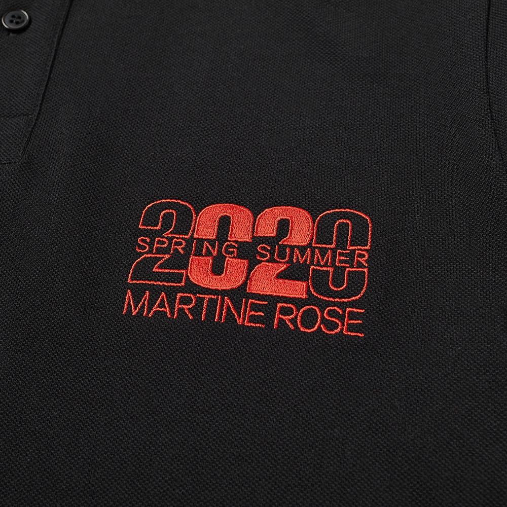 Martine Rose Jacquard Logo Polo - Black