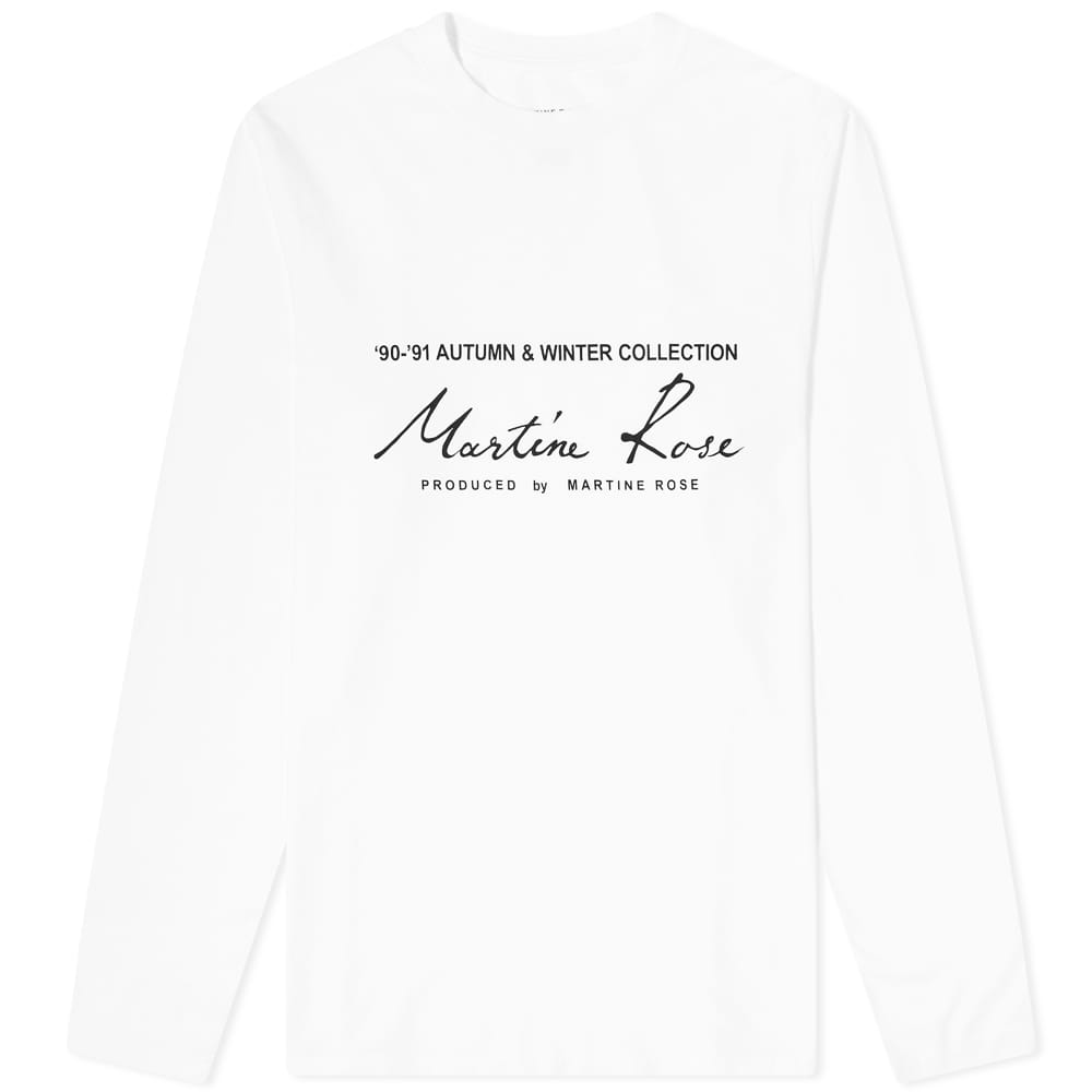 Martine Rose Long Sleeve Logo Print Tee