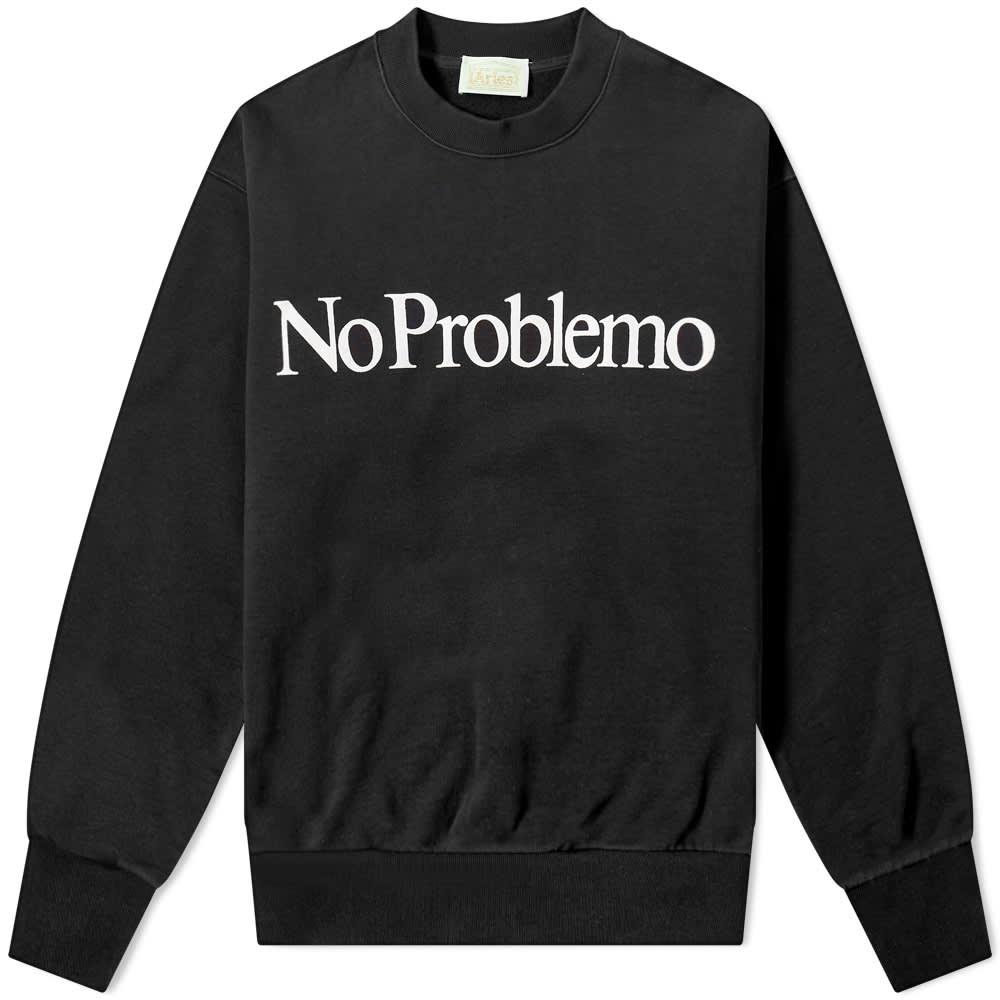 Aries No Problemo Crew Sweat - Black