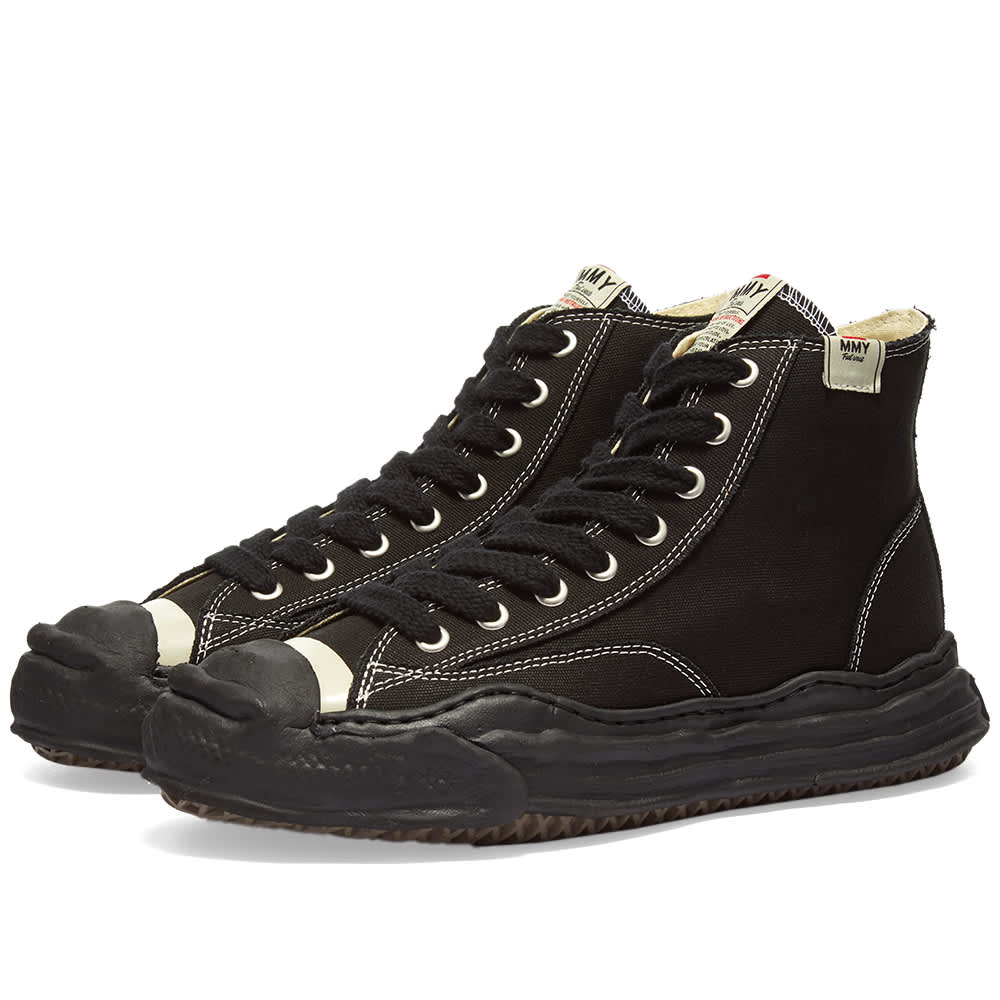 Maison MIHARA YASUHIRO Hank Hi Original Sole Sneaker - Black