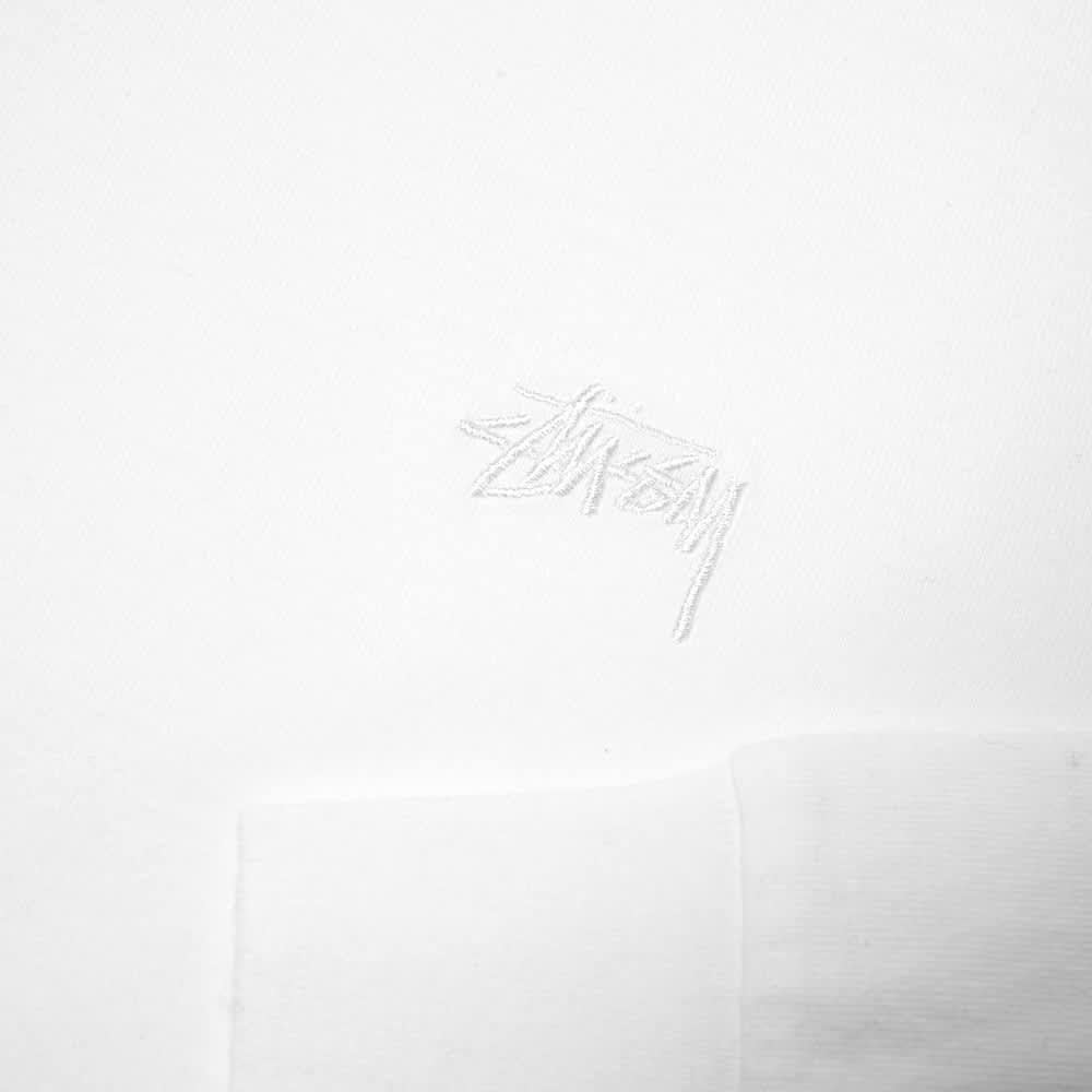 Stussy Long Sleeve Stock Logo Tee - White