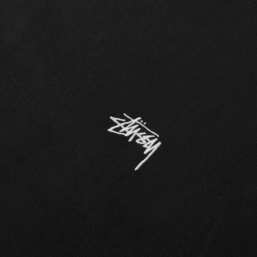 Stussy Stock Logo Crew Sweat - Black