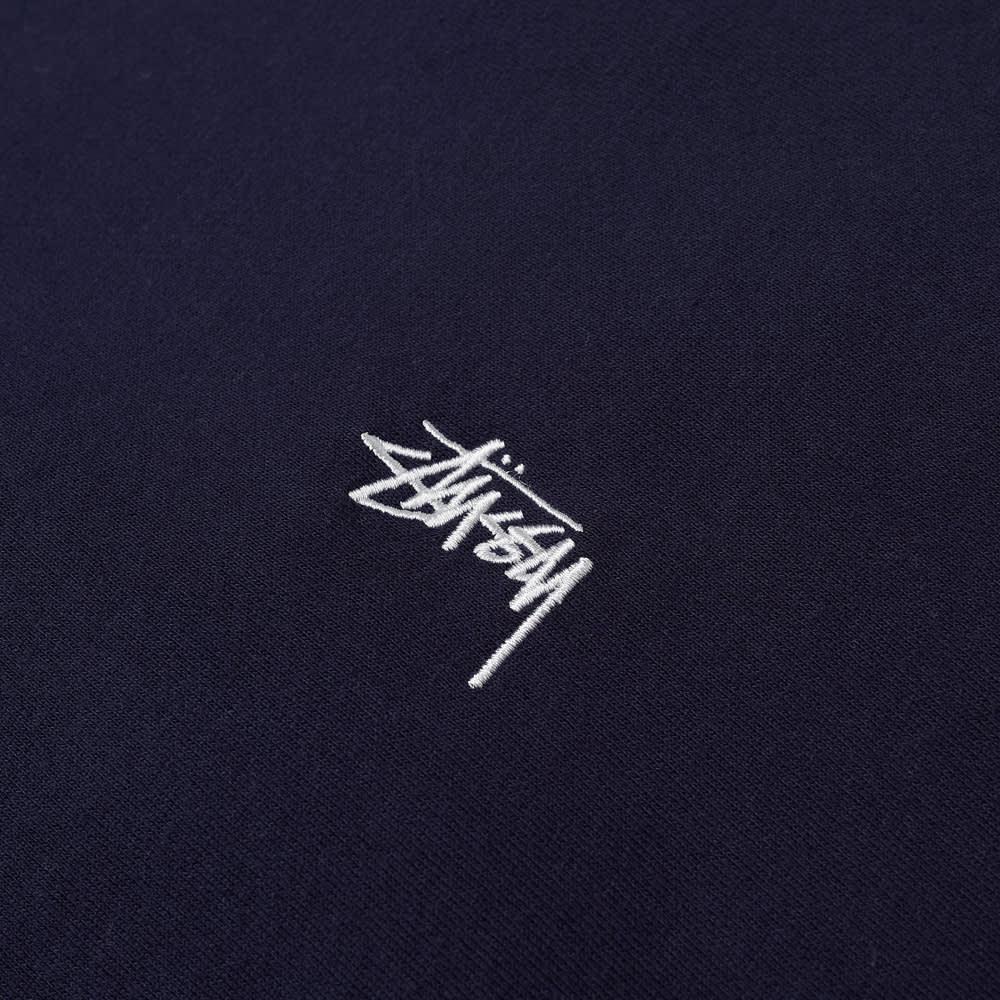 Stussy Stock Logo Crew Sweat - Navy