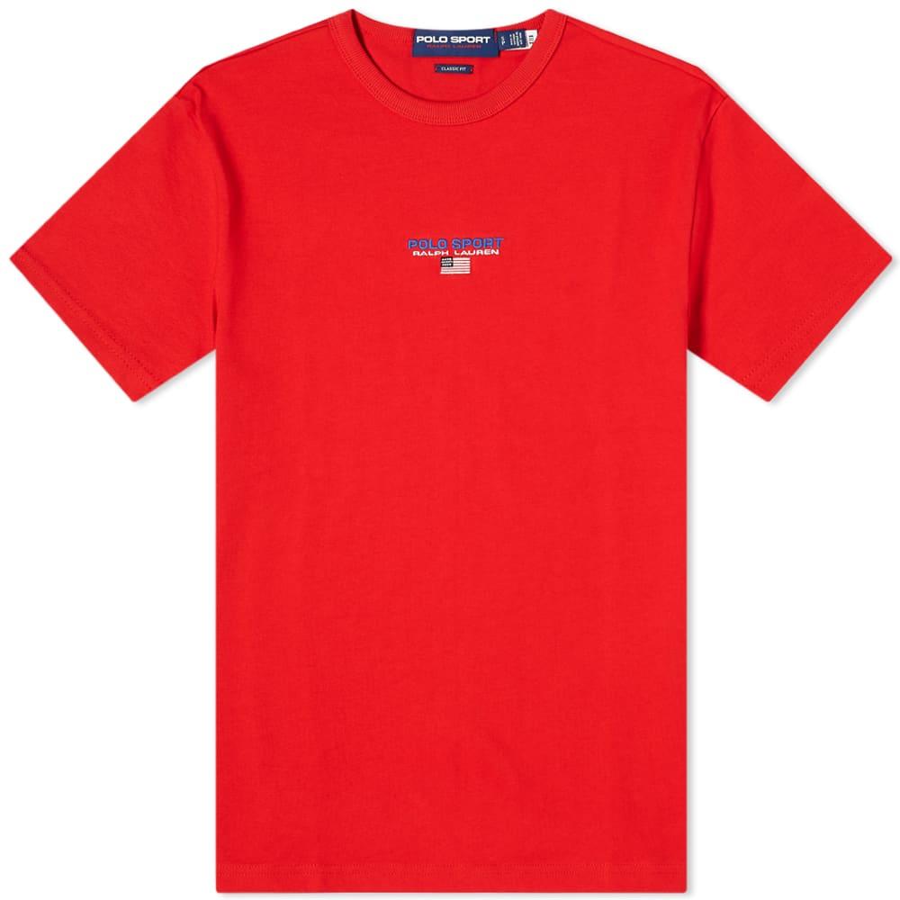 Polo Ralph Lauren Polo Sport Centre Logo Tee - Red