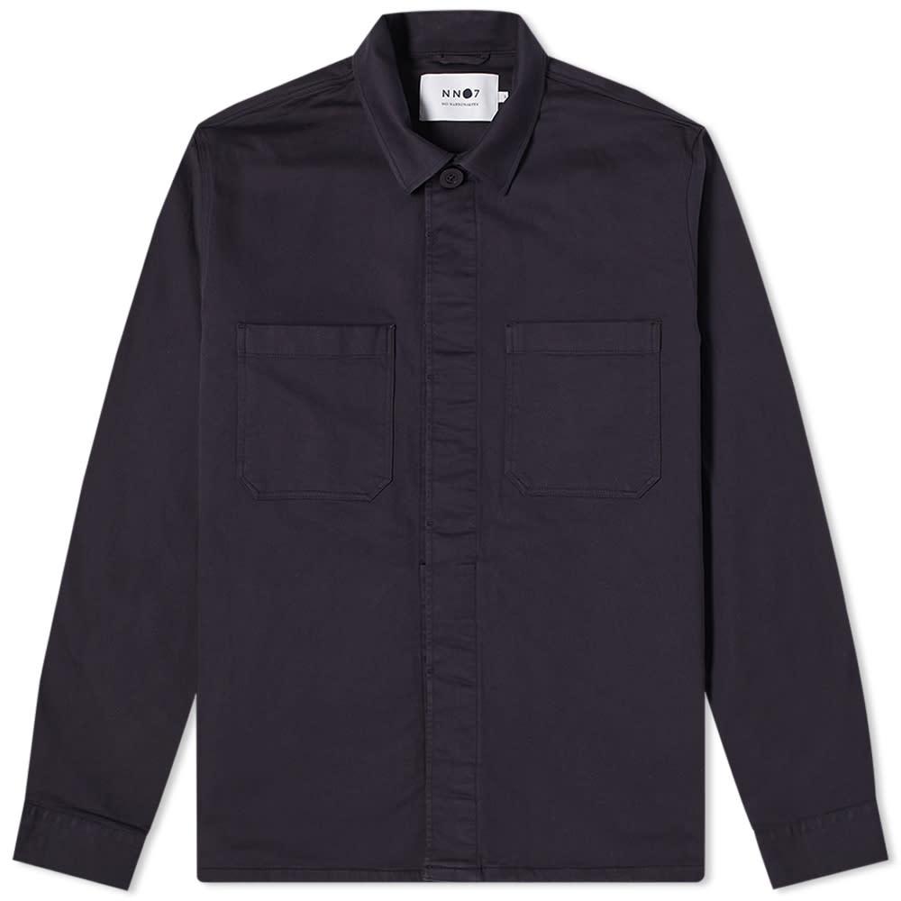 NN07 Bernie Overshirt - Navy Blue