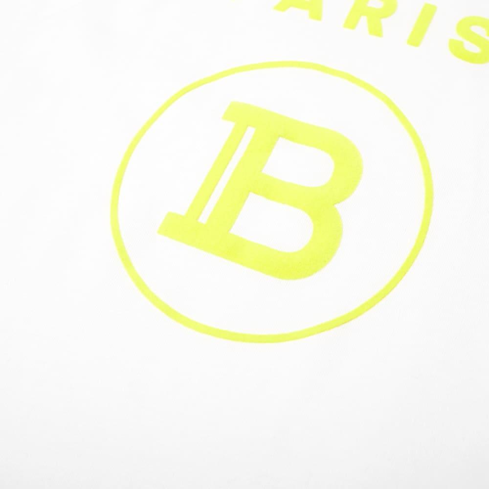 Balmain Flock Tee - White & Yellow