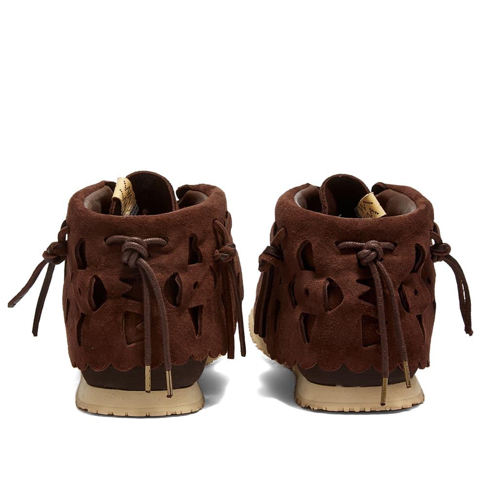 Visvim FBT Bearfoot Perf-Folk - Dark Brown