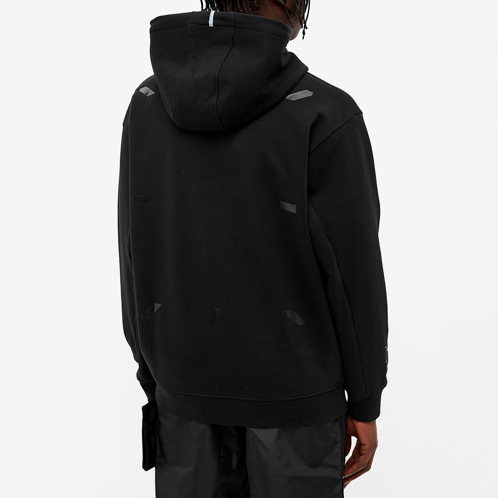 McQ Relaxed Fit Pop Over Hoody - Darkest Black
