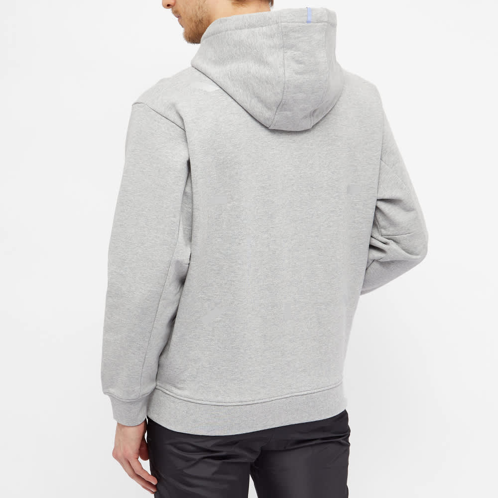 McQ Relaxed Fit Pop Over Hoody - Grey Melange Marble