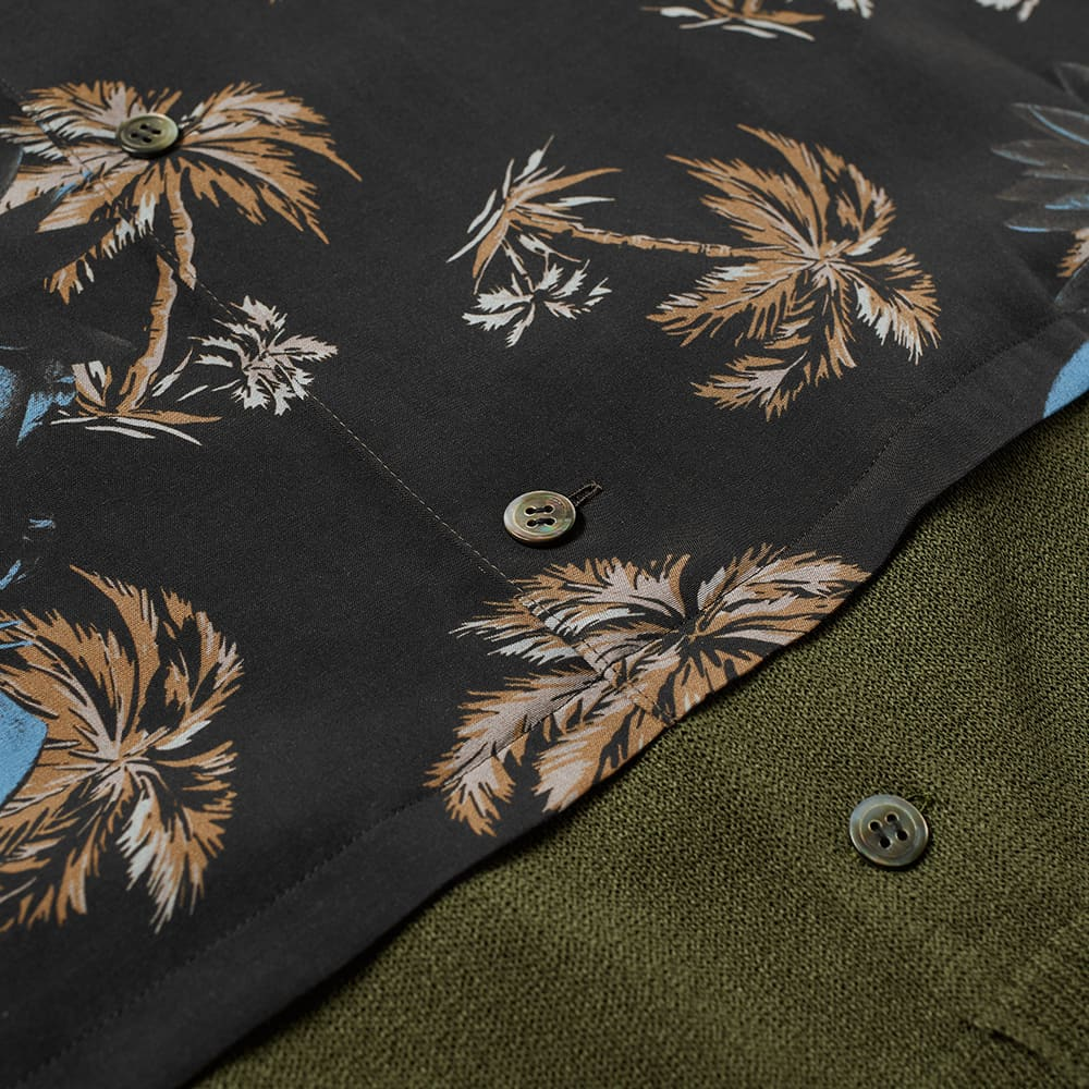 Undercover Faces Floral Vacation Shirt - Black Base