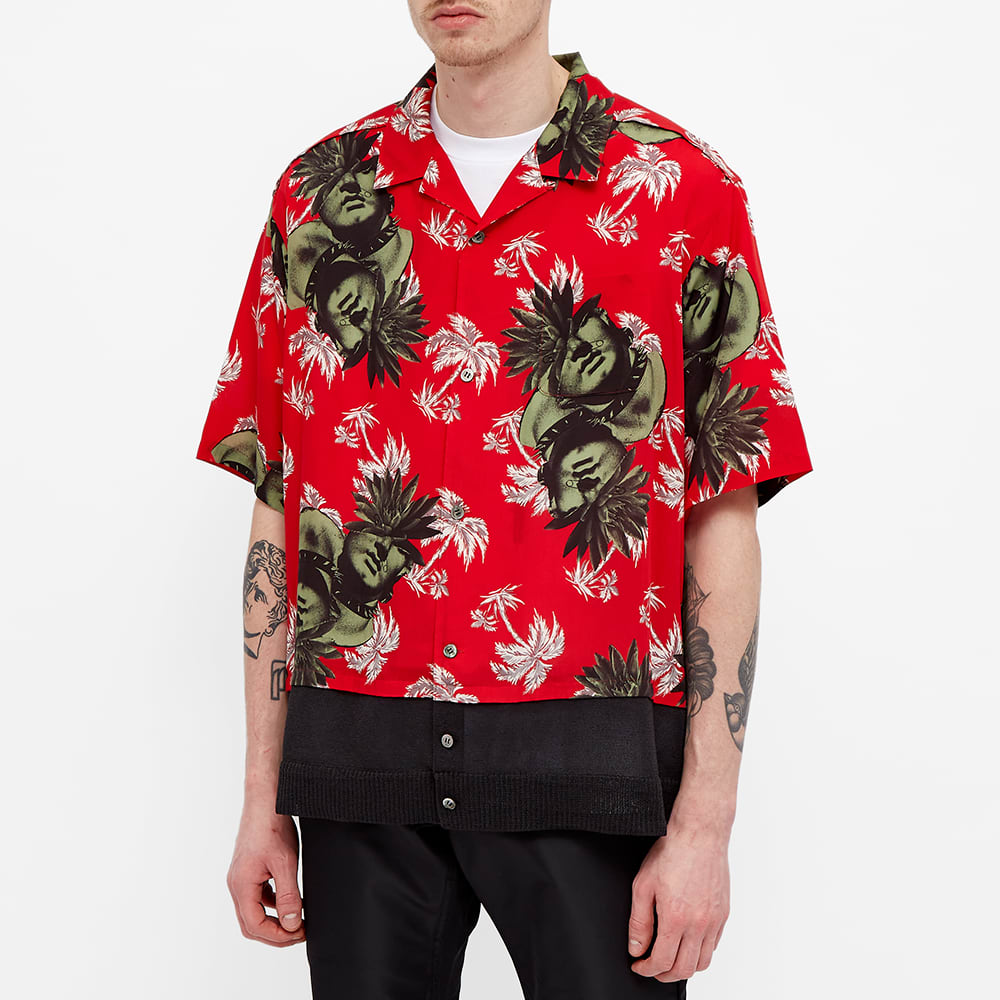 Undercover Faces Floral Vacation Shirt - Red Base