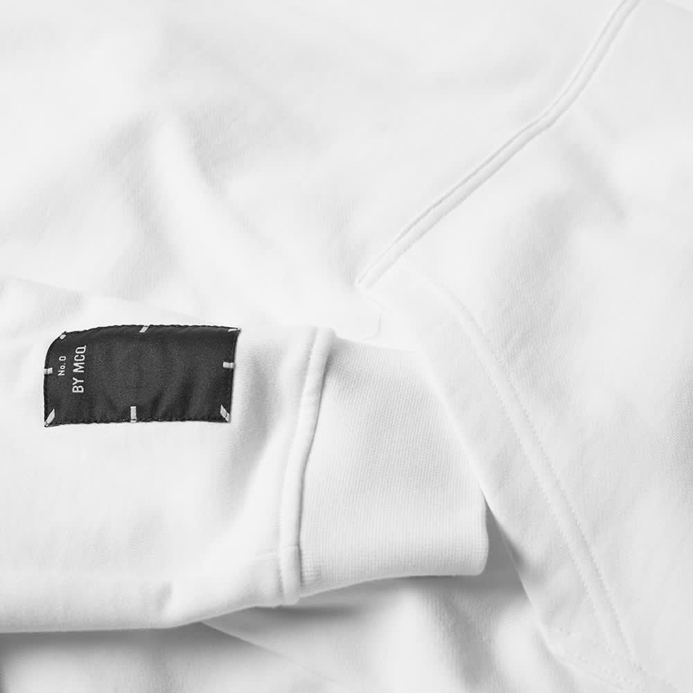 McQ Relaxed Fit Pop Over Hoody - Optic White