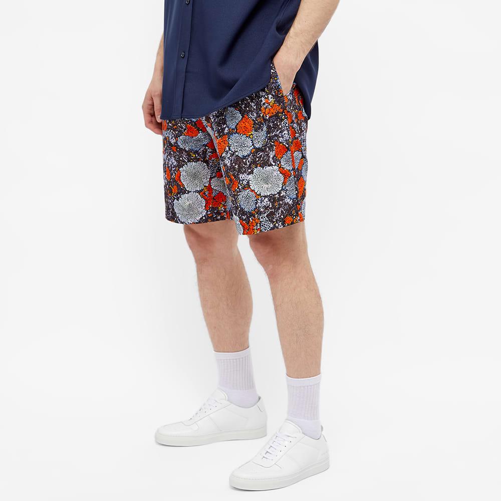 McQ Lichen Print Shorts - Slate & Orange & Foliose
