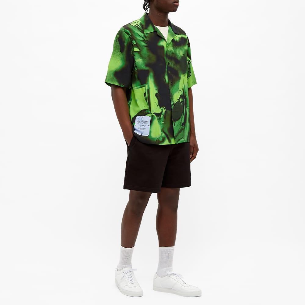McQ Rave Print Vacation Shirt - Black & Slime Green