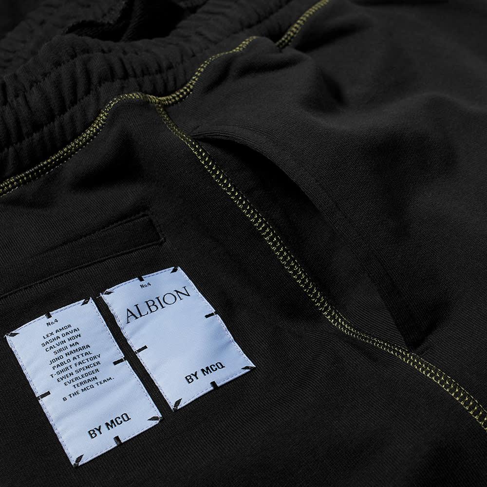 McQ Embroidered Rhino Sweat Pant - Darkest Black