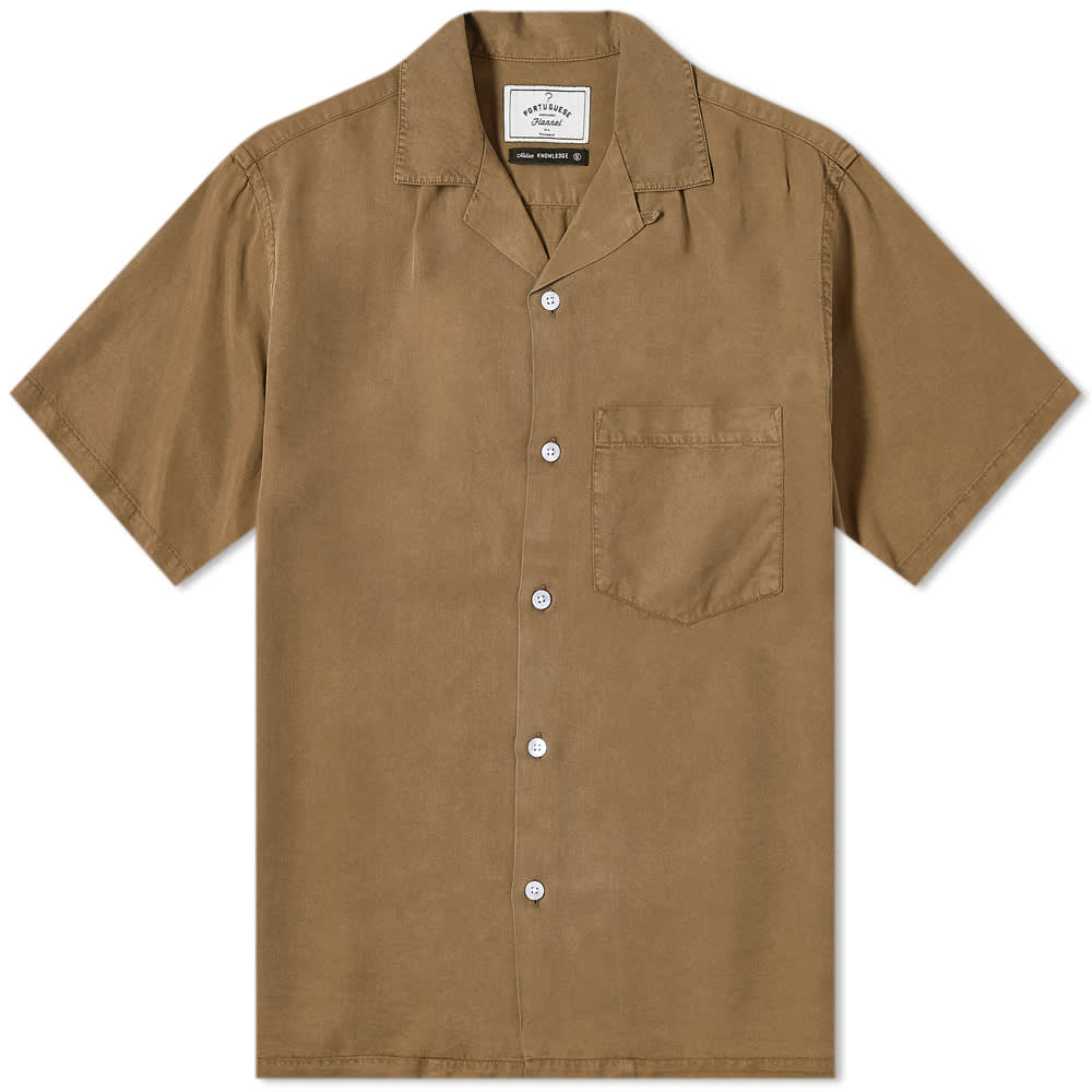 Portuguese Flannel Dogtown Vacation Shirt - Olive