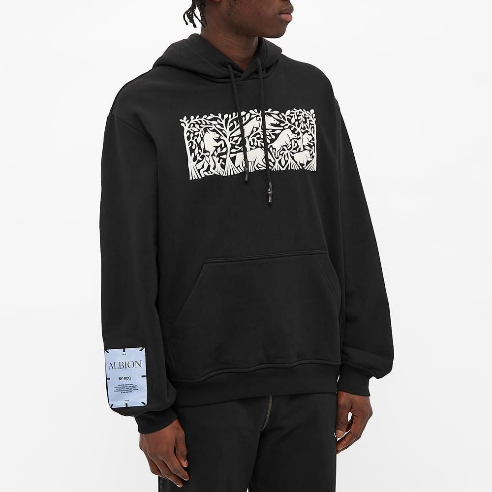 McQ Relaxed Popover Hoody - Darkest Black