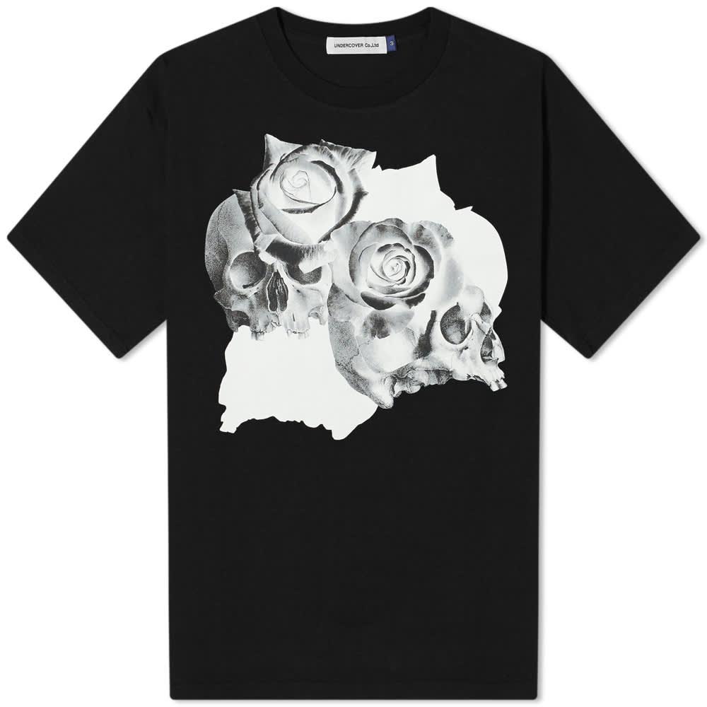 Undercover Roses Skull Tee - Black