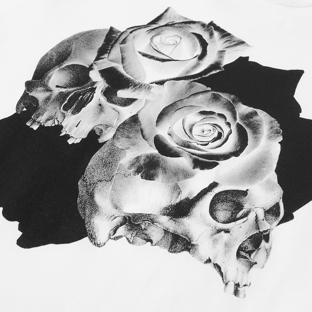Undercover Roses Skull Tee - White