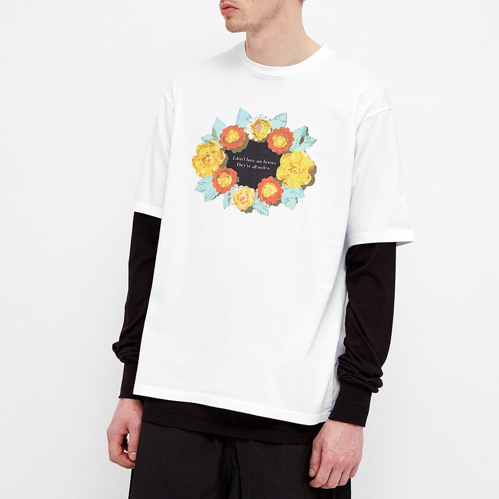 Undercover Roses Tee - White
