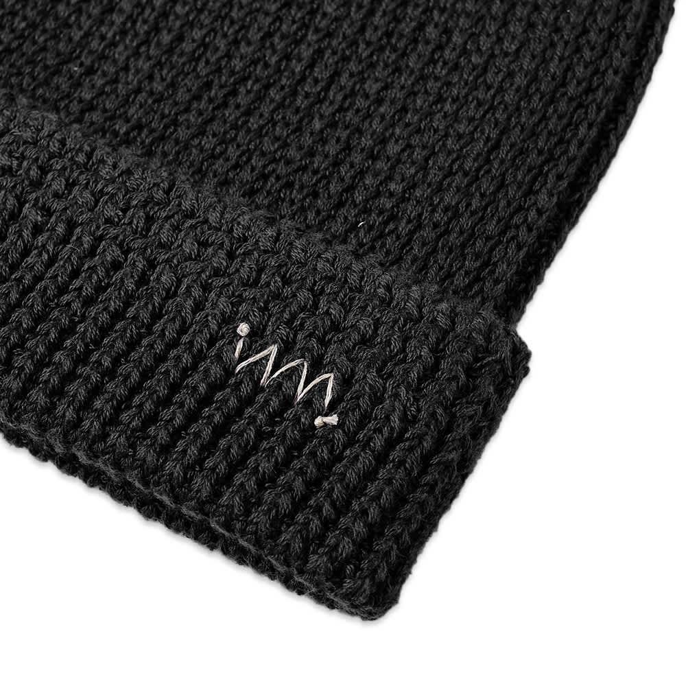 Visvim Knit Beanie Cotton - Black