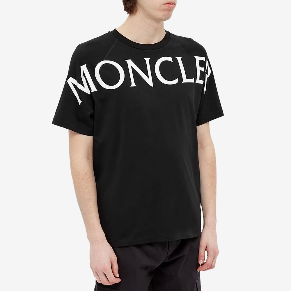 Moncler Macro Text Logo Tee - Black