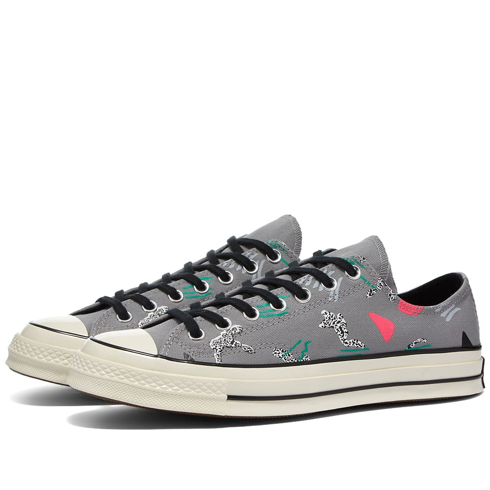 Converse Chuck Taylor 70 Ox 80S Archive Print - Dolphin, Pink & Black