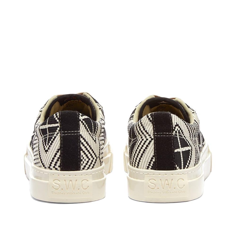 Stepney Workers Club Dellow Almasi Woven Sneaker - Ecru