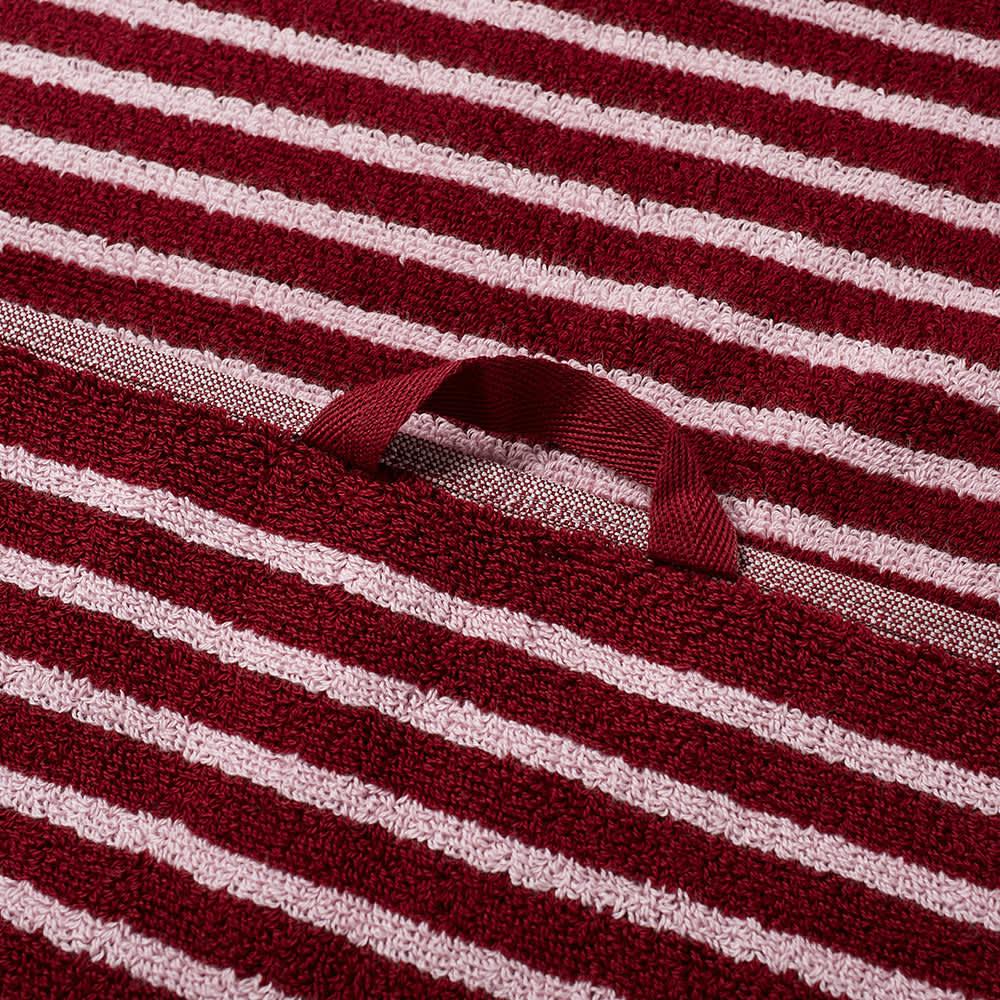 Tekla Fabrics Organic Terry Hand Towel - Red & Rose
