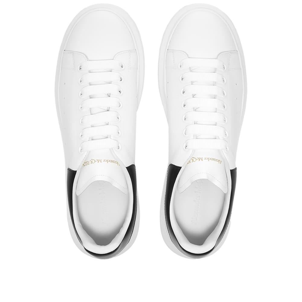 Alexander McQueen Heel Tab Wedge Sole Sneaker - White & Black