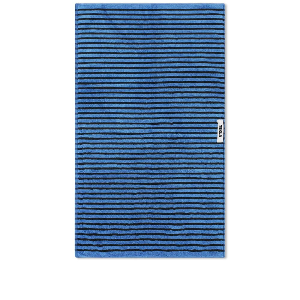 Tekla Fabrics Organic Terry Hand Towel - Blue & Black