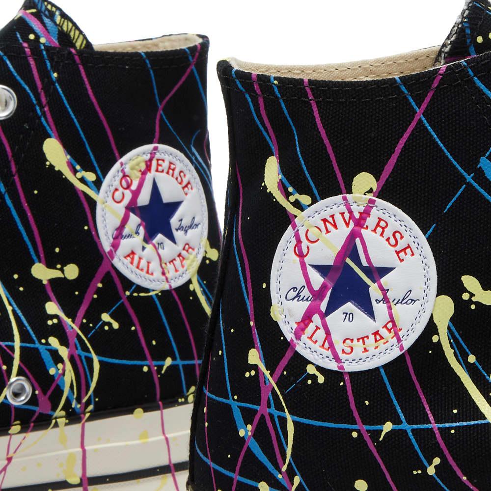 Converse Chuck Taylor 70 Hi Archive Paint Splatter Print - Black, Magenta & Egret