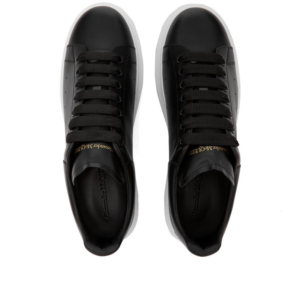 Alexander McQueen Heel Tab Wedge Sole Sneaker - Black