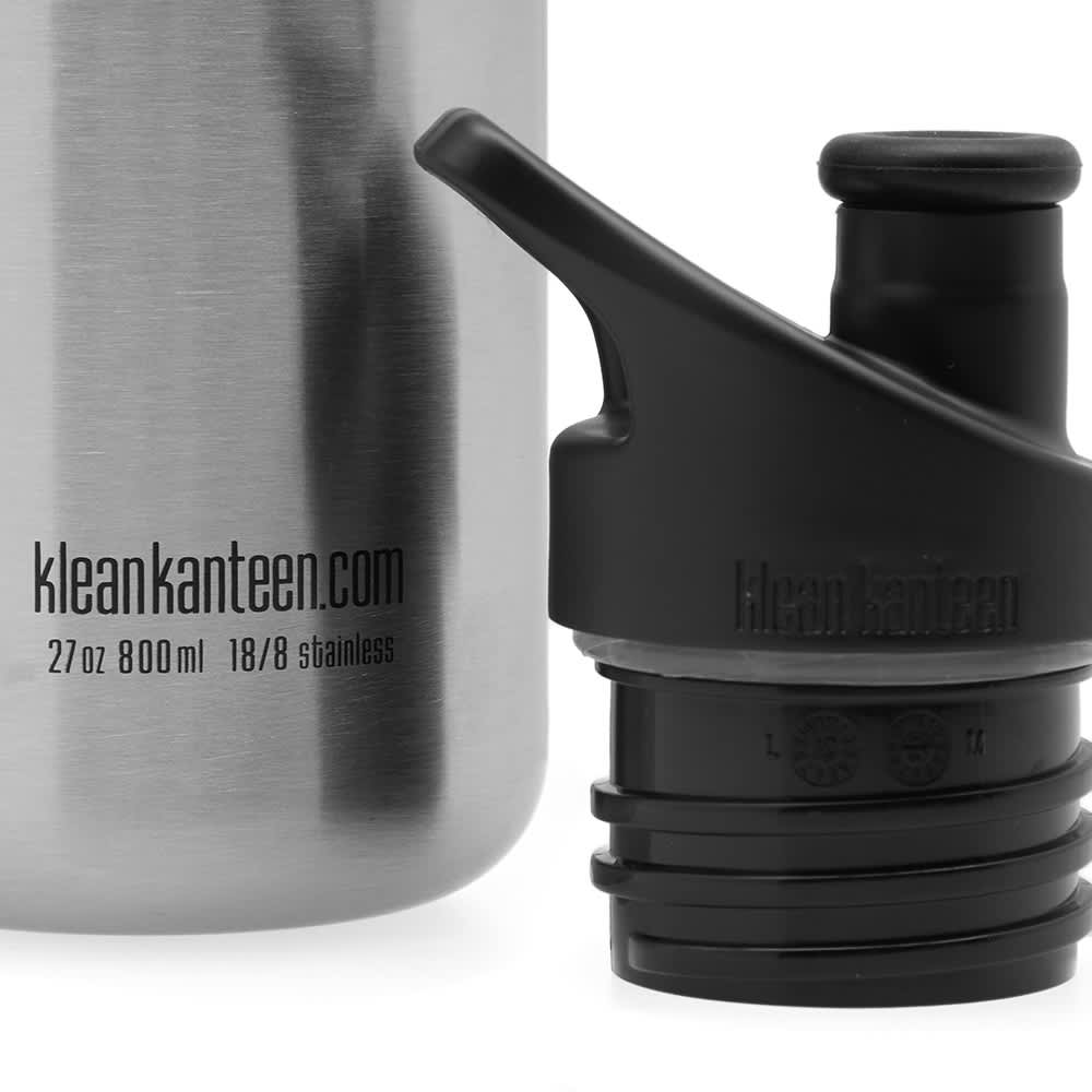 Klean Kanteen Classic Single Wall Sport 3.0 Bottle - Brushed Stainless 800ml