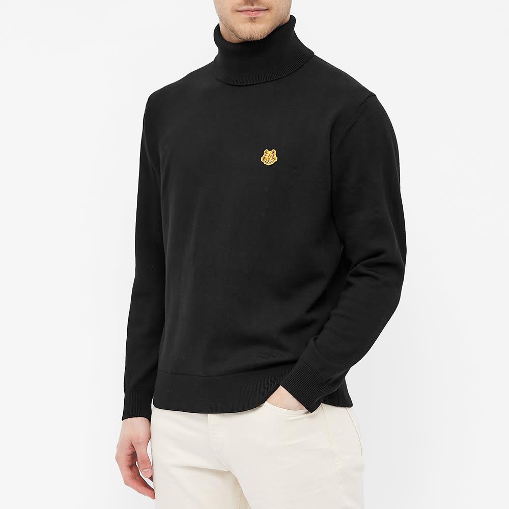 Kenzo Tiger Crest Roll Neck Knit - Black