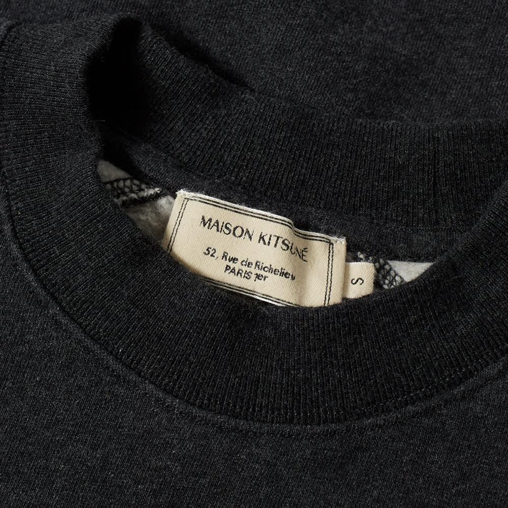 Maison Kitsuné Triangle Sweater - Anthracite Melange