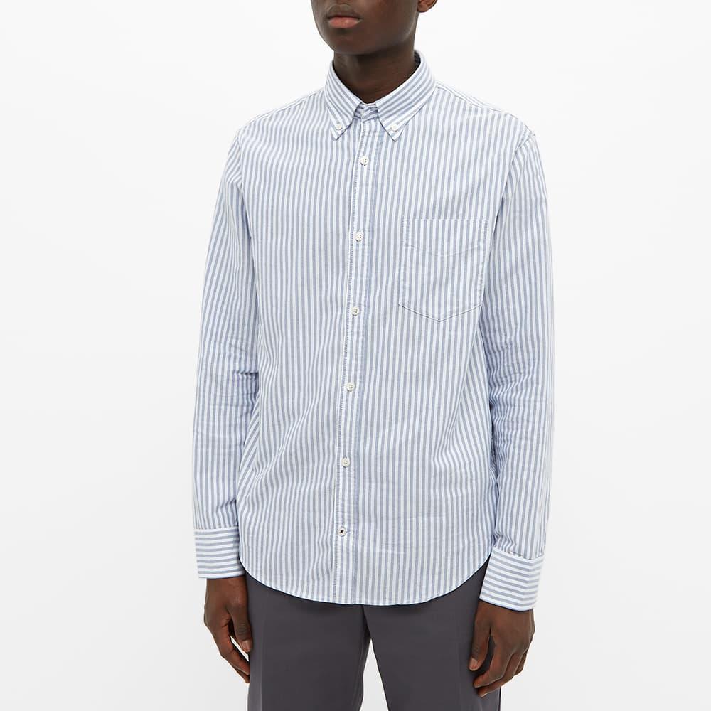 NN07 Button Down Levon Oxford Shirt - Blue Stripe