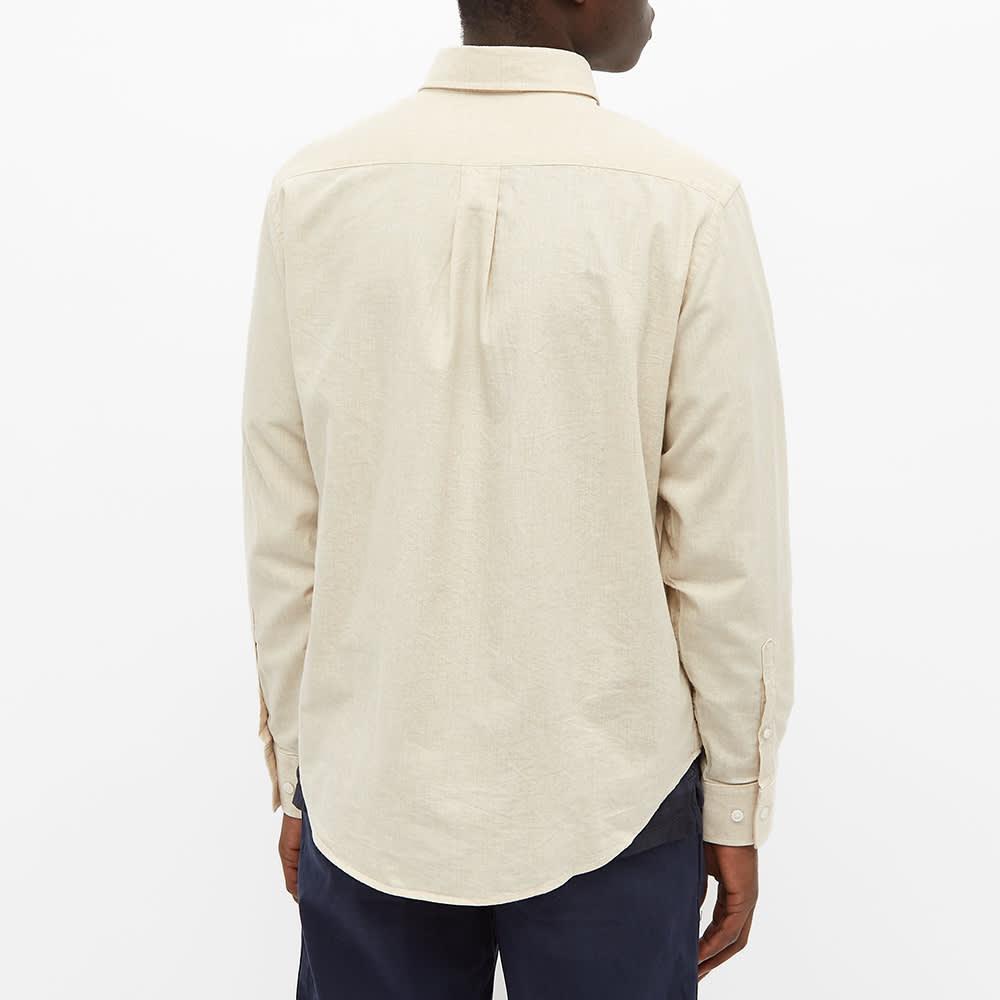 NN07 Button Down Levon Flannel Shirt - Creme