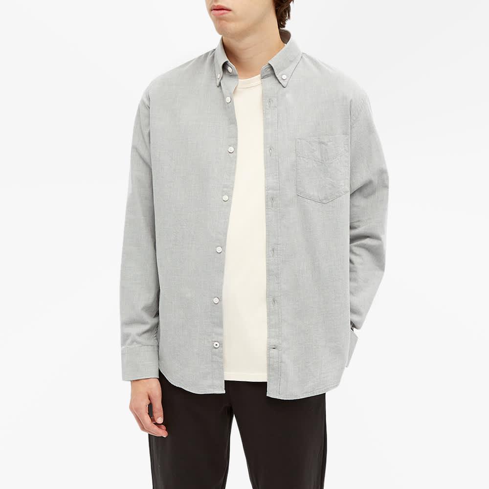 NN07 Button Down Levon Flannel Shirt - Medium Grey