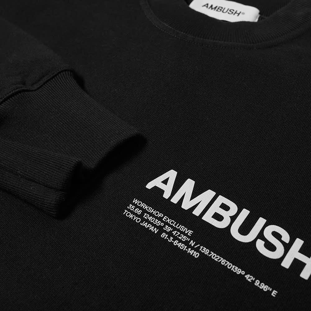Ambush Logo Crew Sweat - Black & White