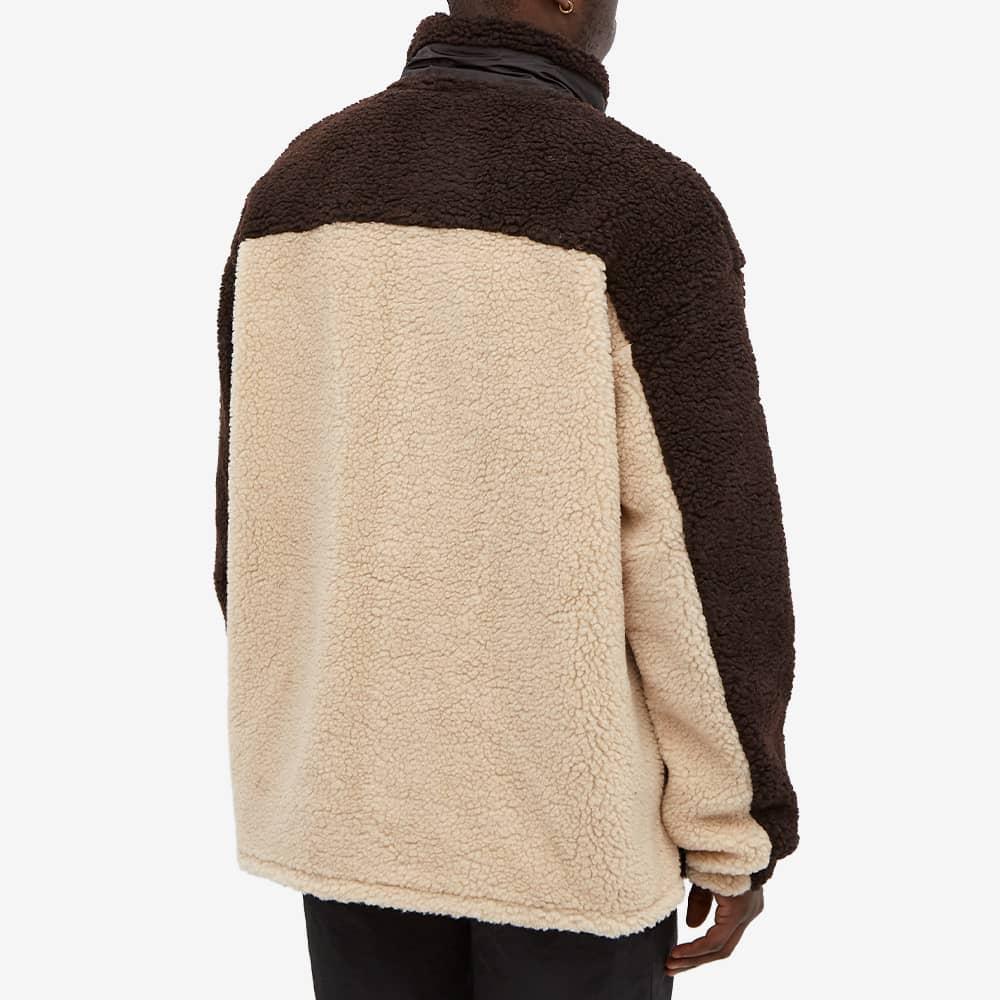 Ambush Zip Through Fleece - Brown & Beige