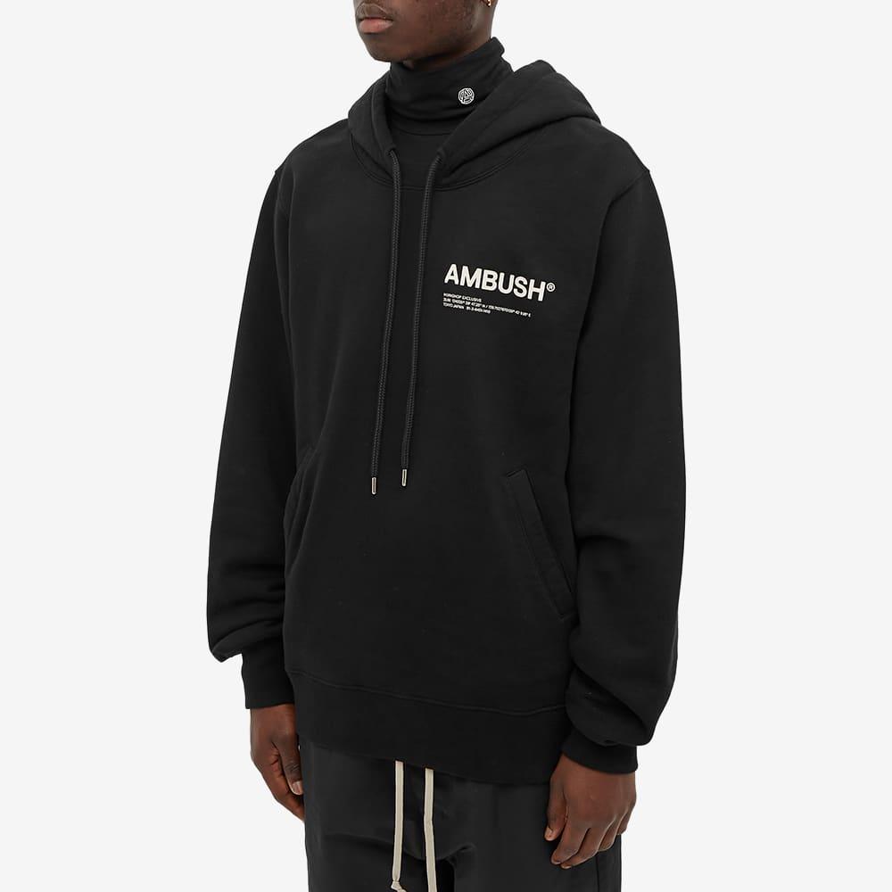 Ambush Logo Popover Hoody - Black & Tofu
