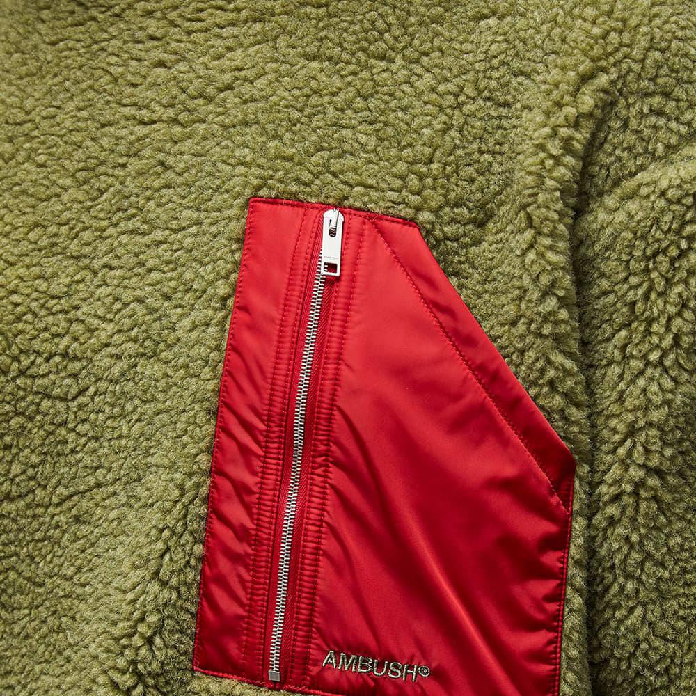 Ambush Pocket Polar Fleece Crew Sweat - Khaki & Khaki