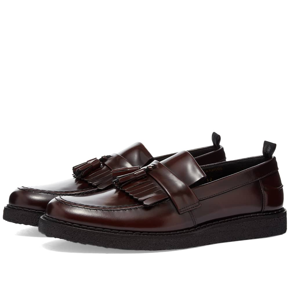 Fred Perry x George Cox Tassel Loafer - Oxblood