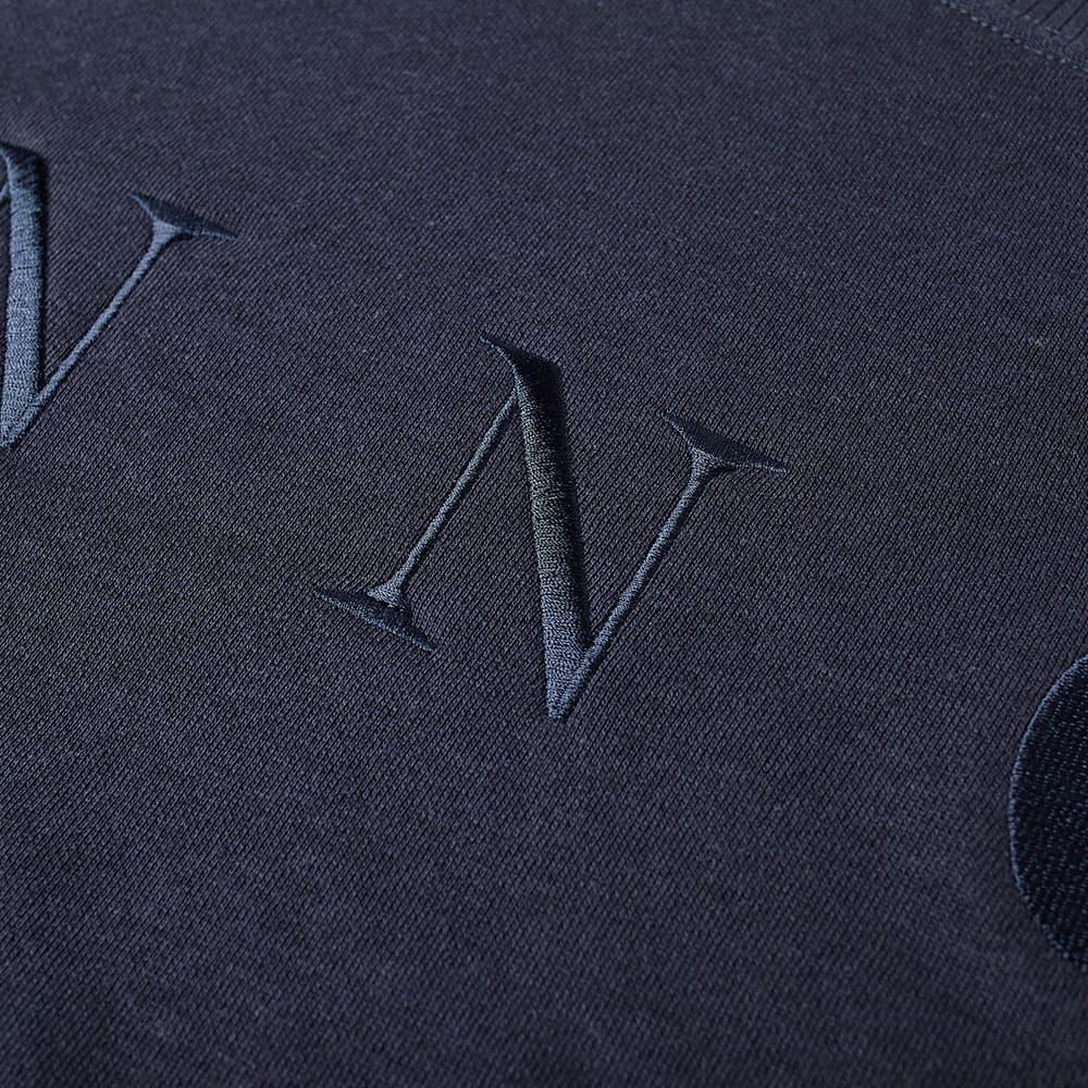 NN07 Jerome Embroidered Logo Crew Sweat - Navy Blue