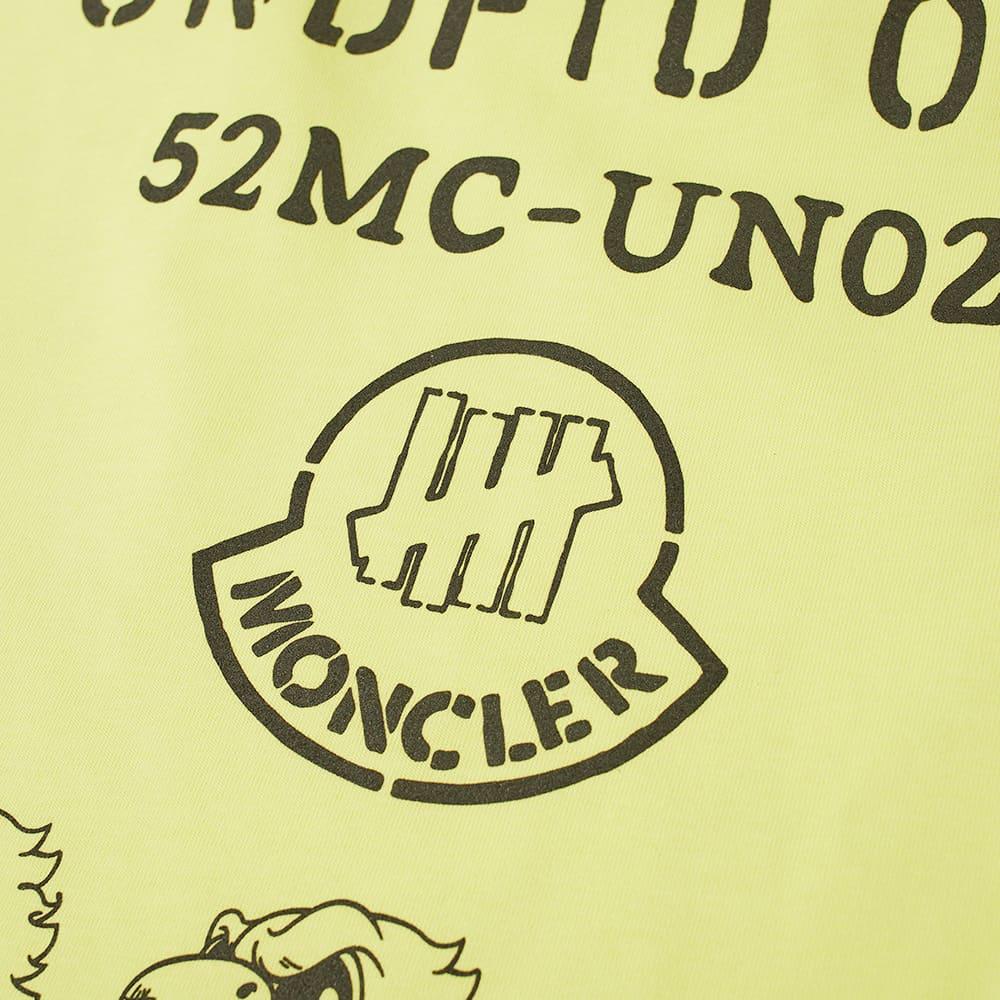 Moncler Genius 2 Moncler 1952 x Undefeated Long Sleeve Eagle Logo Print Tee - Yellow