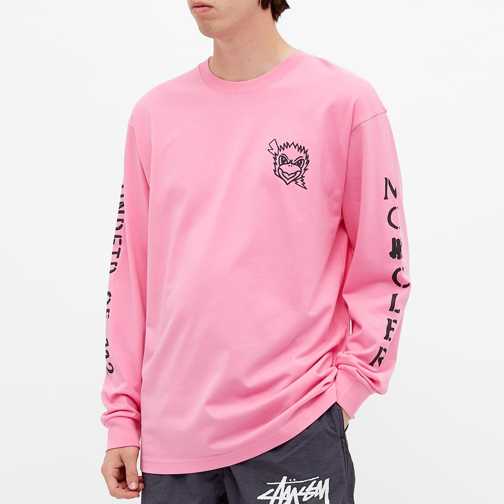 Moncler Genius 2 Moncler 1952 x Undefeated Long Sleeve Eagle Logo Print Tee - Pink