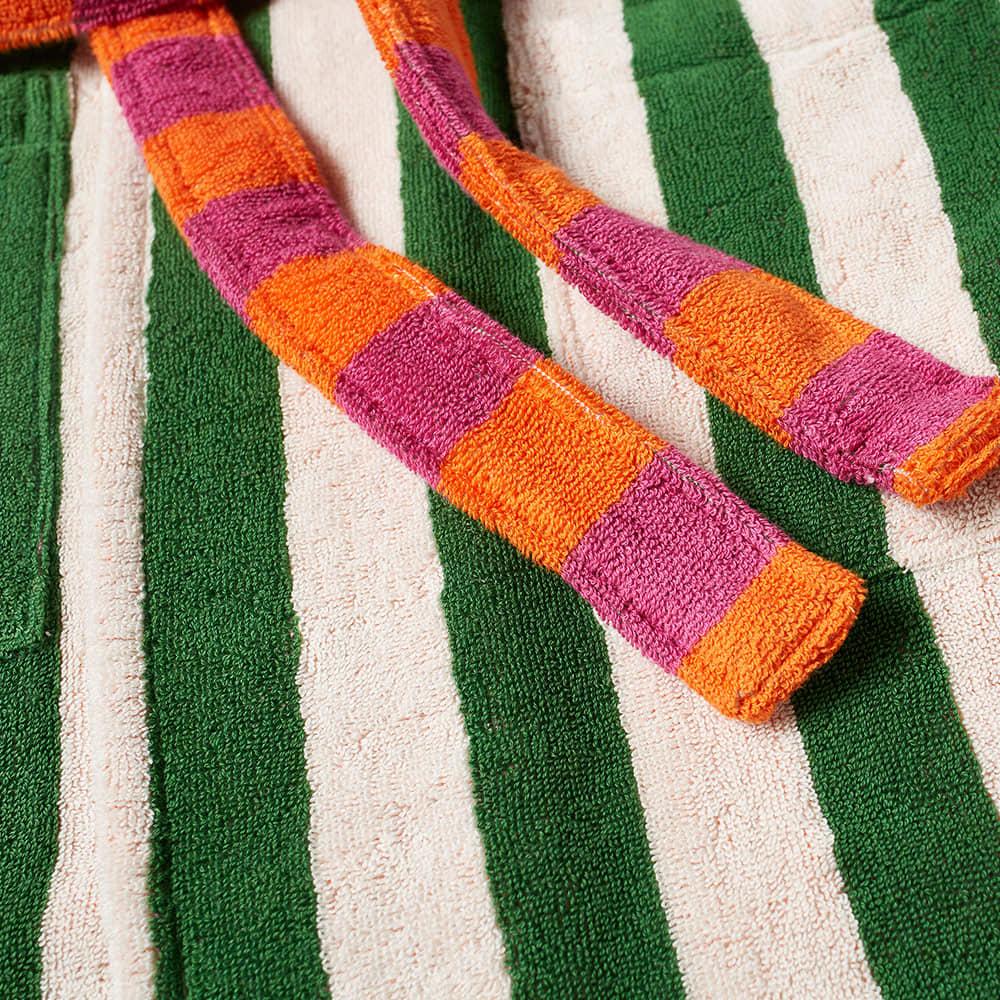 Dusen Dusen Bathrobe - Green & White Stripe