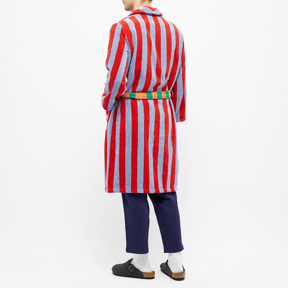 Dusen Dusen Bathrobe - Blue & Red Stripe