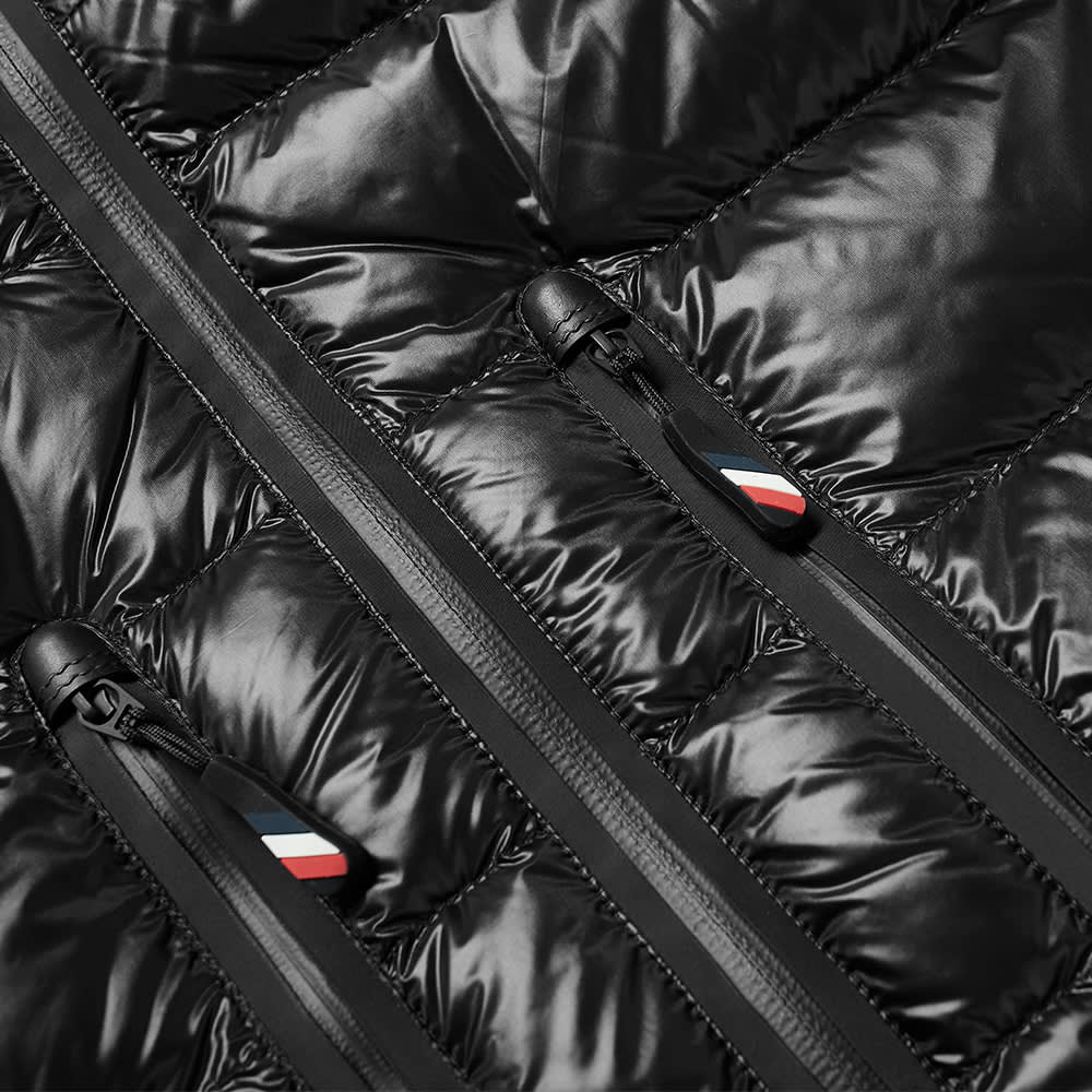 Moncler Grenoble Knitted Arm Hooded Down Jacket - Black